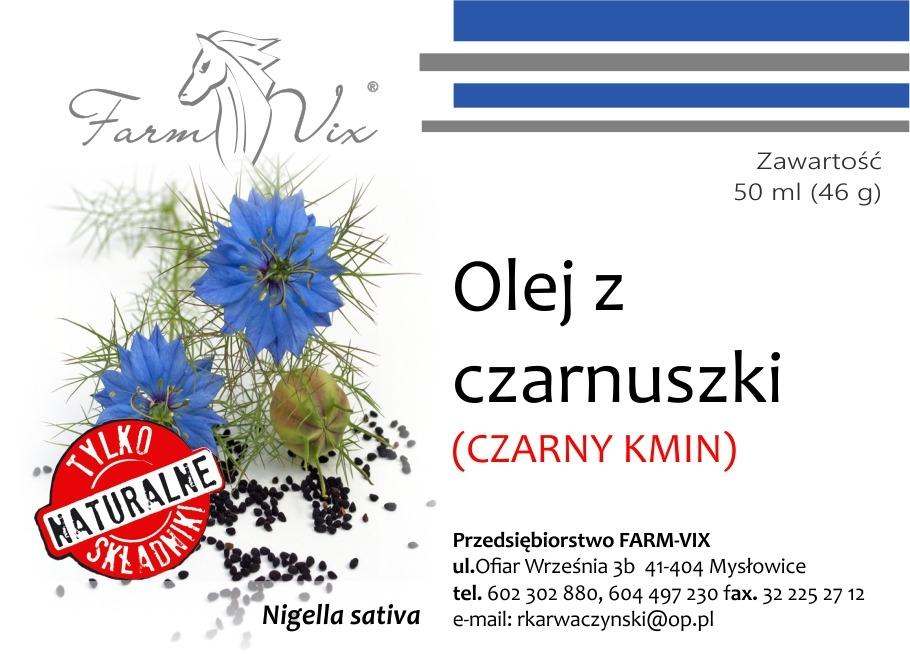 Olej z czarnuszki – Czarny Kmin – 50 ml (46 g)